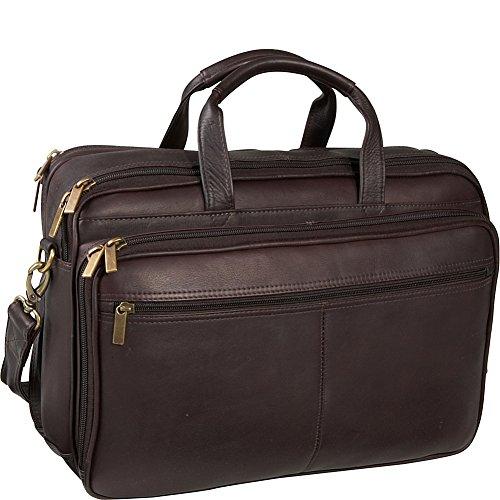 Brief Pocket 2 Computer (Ledonne Leather Two Compartment Computer Brief, Café)