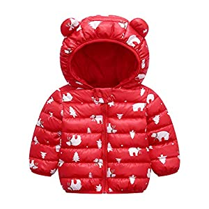 LUOUSE Baby Kids Boys Girls Lightweight Warm Cotton Coat Hoods Jacket Outwear