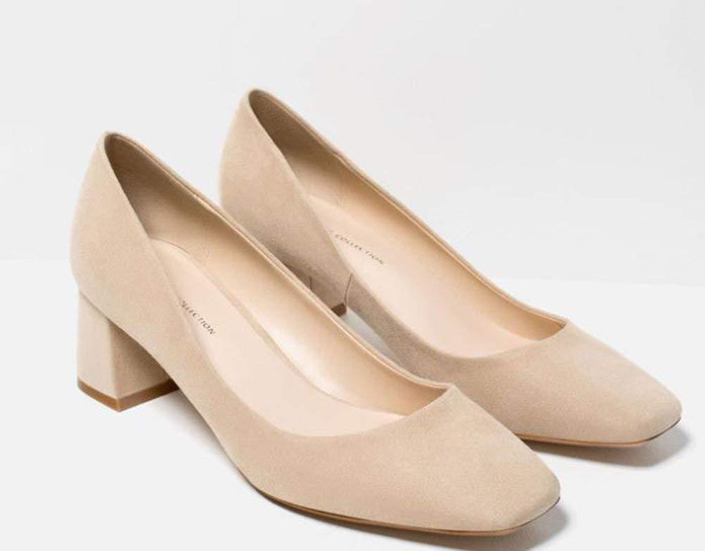 Oudan Platz Mit Freizeit - Schuhe Mit Dicken,Sandy,40 (Farbe   Wie Gezeigt, Größe   Einheitsgröße)