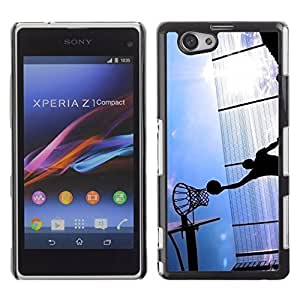 Graphic4You Basketball Game Sports Theme Design Hard Case Cover for Sony Xperia Z1 Compact (Mini)