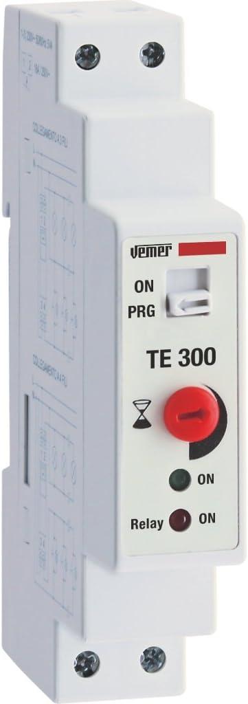 Vemer ve766700 Temporizador automático Luces escaleras TE 300 de Barra DIN, Blanco: Amazon.es: Bricolaje y herramientas