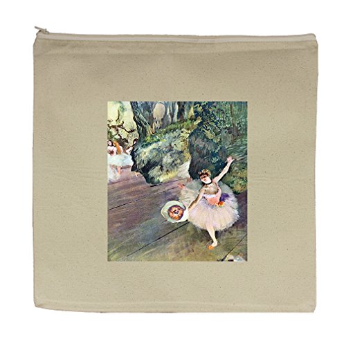 Dancer Bouquet Flowers Star Ballet (Degas) Canvas Zipper Tote Bag Makeup Bag (Ballet Bag Degas)