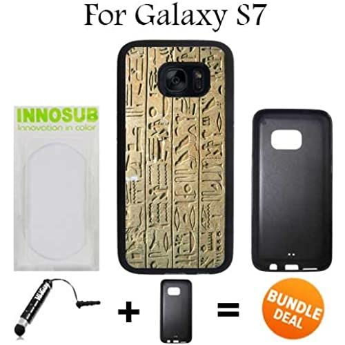 Egyptian Lifestyle Custom Galaxy S7 Cases-Black-Rubber,Bundle 2in1 Comes with Custom Case/Universal Stylus Pen Sales