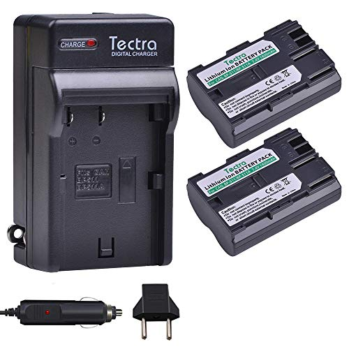 Tectra 2Pcs BP-511 BP-511a High-Capacity Battery + Charger Kits for Canon Cameras Canon EOS 5D, 50D, 40D, 20D, 30D, 10D, Digital Rebel, D60, 300D, D30,PowerShot G1 G2 G3 G5 G6 Pro 1 Pro 90 Pro 90IS