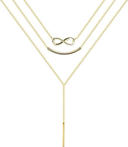 Davitu Pendants /& Necklaces for Women Trendy 3 Multi Circles Big Elegant Sweater Chain 70CM Long Necklace Party Wedding Ethnic Jewelry Metal Color: Rose Gold, Length: 70cm