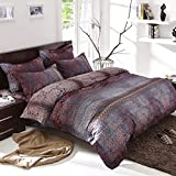 ZXLRH Bedspread 4 Pieces Patchwork Satin Bed Cover Bed Throw Vintage Set Super Soft Comforter Set Include 2 Pillow Single/Double/Size 200 X 230/220 X 240 cm,220x240cm-C