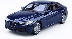 TGhosts Car Model, Car Modeleducational Toys,Model Car 1:24 Alfa Romeo Giulia Alloy Simulation Original Car Model Decoration Collection Gift Decoration 19X8.5X5.8Cm Model Car (Color : Blue)