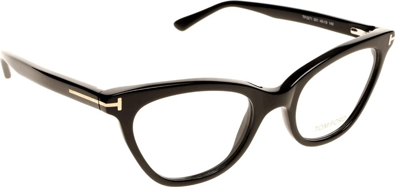Amazon.com: Tom Ford TF5271 Cat-Eye Eyeglasses FT5271 (001 Shiny ...