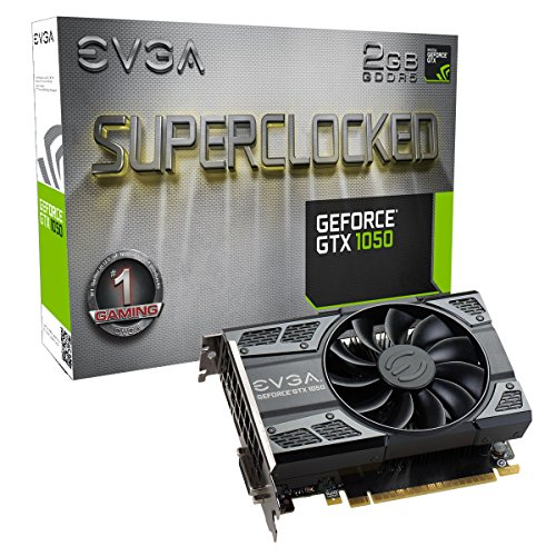 - EVGA GeForce GTX 1050 SC Gaming, 2GB GDDR5, DX12 OSD Support (PXOC) Graphics Card 02G-P4-6152-KR