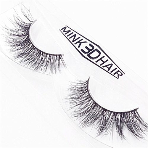 NewKelly False Eyelashes Long Lasting Lashes Natural Eyelashes Cruelty Free 1 Pair D]()