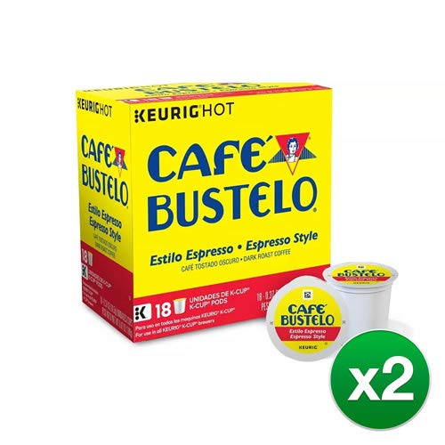 Keurig Cafe Bustelo Coffee Espresso K-Cups Cuban (18 count) (4 Packs): Amazon.com: Grocery & Gourmet Food