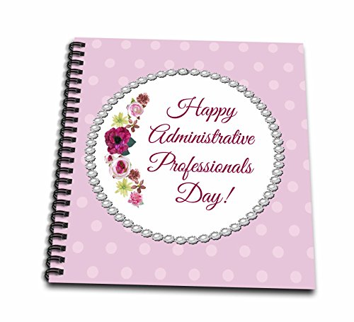 Beverly Turner Administrative Professionals Day - Roses, Pink, Red, Pearl Look Frame, Dots, Administrative Assistant - Memory Book 12 x 12 inch (db_244094_2)