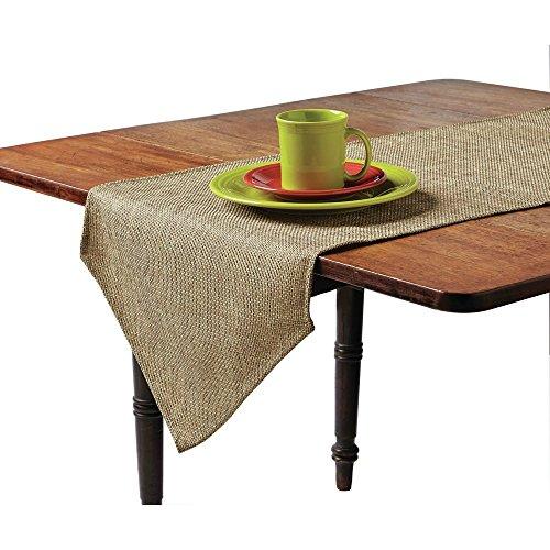 (Snap Drape Table Runner Faux Burlap Polyester - 108