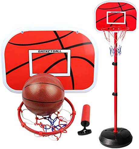 子供用バスケットボールスタンド、屋内および屋外の大型バスケットボールスタンド、0.7-2.2mのリフティングシューティングシステム、ボール付き