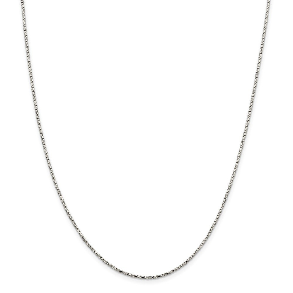 18 Length 925 Sterling Silver 1.35mm Wide Twisted Box Chain Necklace