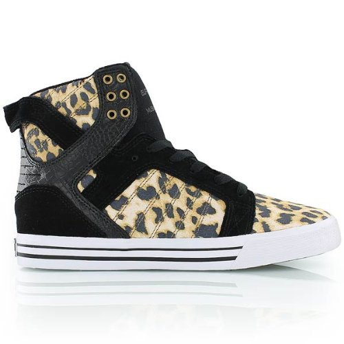 Supra – Mens Skytop High Top Shoes, Size: 12 D(M) US, Color: Cheetah/Black/White