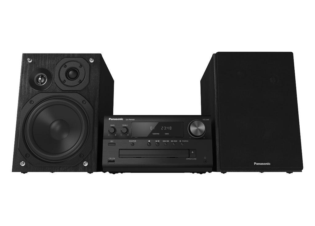 Panasonic SC-PMX84 Home Audio Mini System 120W Negro - Microcadena (Minicadena de música para Uso doméstico, Negro, Monótono, 120 W, De 3 vías, 10%)