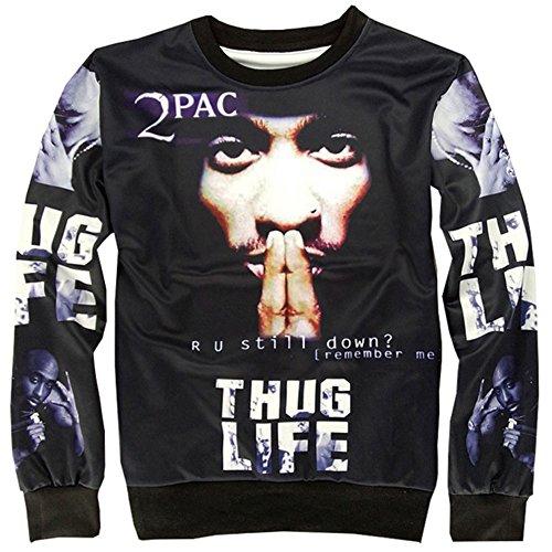 fe1bcb66d Chiclook Cool Chris Brown Sweatshirt Crewneck Men Tupac 2pac T-Shirts  Pullovers Sweat Shirts