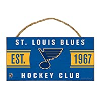"NHL St. Louis Blues Wood Sign with Rope, 5"" x 10"""