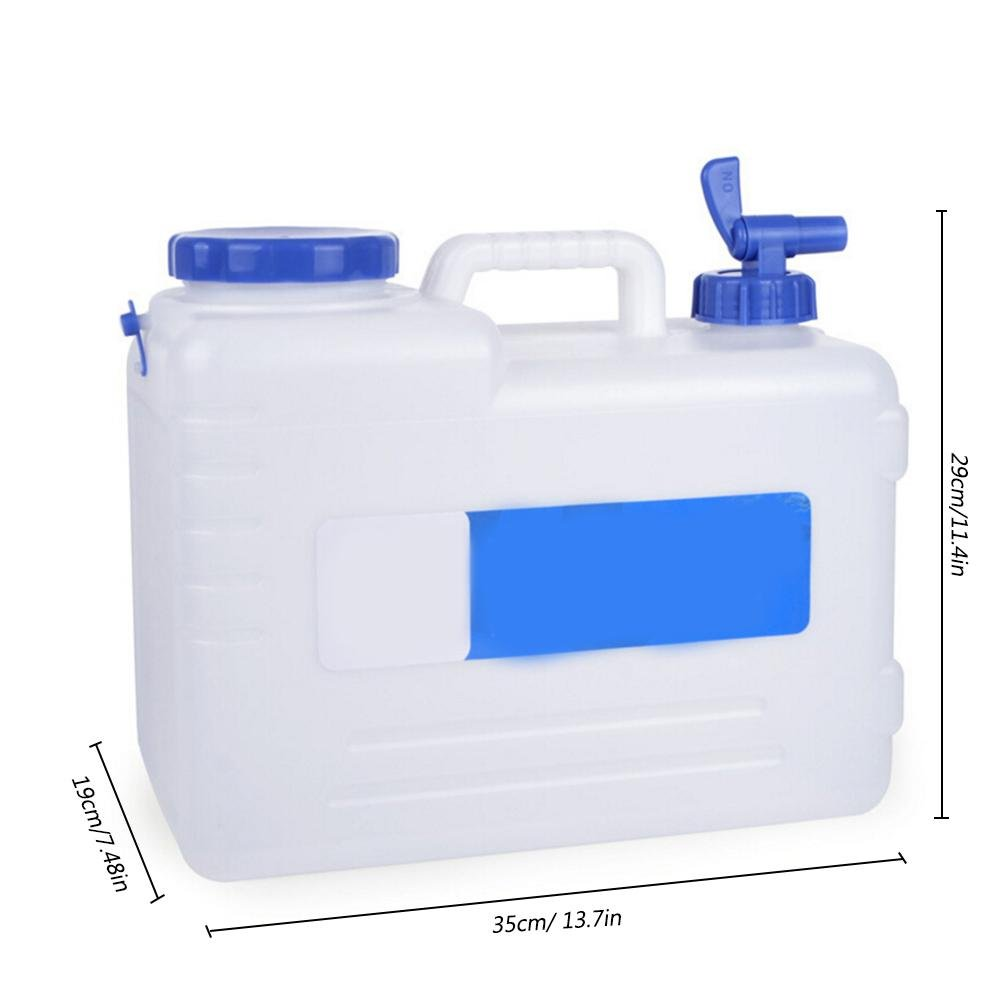longshow 15LCamping Water Storage Car Portable Bucket Outdoor Camping Home Drinking Storage Bucket with Tap - Carrier Jug for Outdoors Hiking Backpack & Survival Kit Portable Water Canteen
