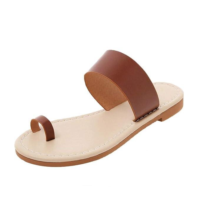 FELZ Sandalias Sandalias de Vestir Sandalias de Verano para Mujer Zapatillas Chanclas para Mujeres Zapatos de Playa Planos Zapatos Romanos Casuales: ...
