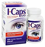 Alcon ICaps Multivitamin Eye Vitamin & Mineral Support, Coated Tablets , MegaValue PacK of 3 ( 300 Count Total )