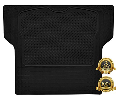 Car Cargo Liners (Heavy Duty Rubber Trunk Cargo Liner Floor Mat All Weather Trunk Protection Trimmable to Fit&Durable pvc Rubber Black)