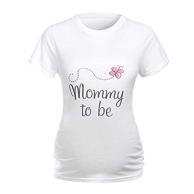 03917bb67abeb Amazon.com: OTINICE Women Pregnant Clothing Short Sleeve It's A Boy Letter  Print Maternity Shirts Plus Size T-Shirt Tops: Clothing