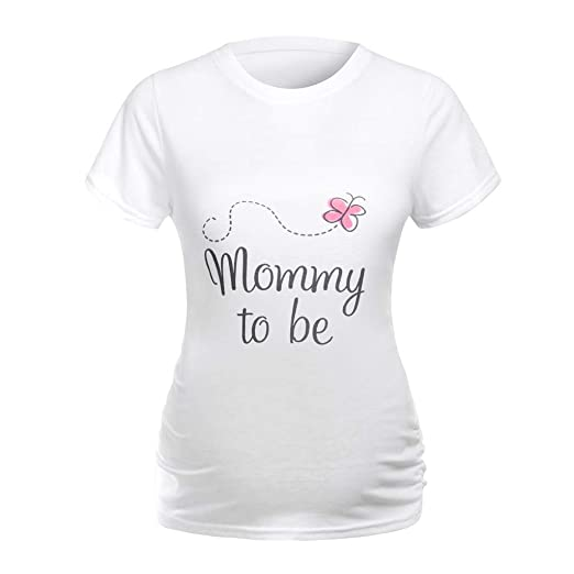 a890f698 Allywit Maternity Funny T Shirts Pregnancy Shirts to Announce Novelty T  Shirt at Amazon Women's Clothing store: