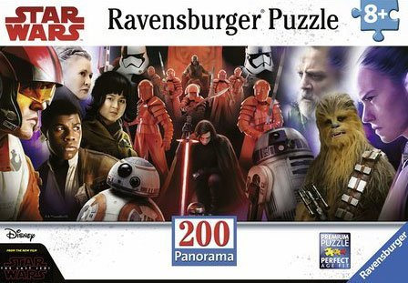 Star Wars, Episode 8, 200 Piece Panoramic Jigsaw Puzzle by LucasFilm & Disney with XXL Sized Pieces and Made by Ravensburger with Their Premium Softclick (200 Pc Ravensburger Kids Puzzle)