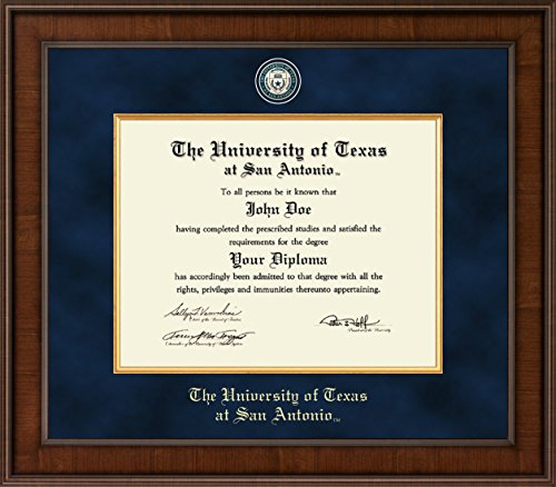 Texas San Antonio Seal (University of Texas San Antonio Diploma Frame - Presidential Edition - Features Masterpiece Medallion of School Seal - Officially Licensed - 11