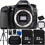 Canon EOS 80D DSLR Camera Body Bundle with Carrying Case and Accessory Kit (10 Items)