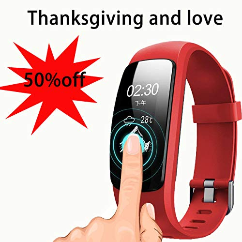 ZHT Fitness Tracker HR, ID107Plus Heart Rate Monitor Fitness Smart Watch, with Sleep Monitor Waterproof Pedometer Smart Bracelet, Calorie Counter, Children, Male, Female Pedometer Watch