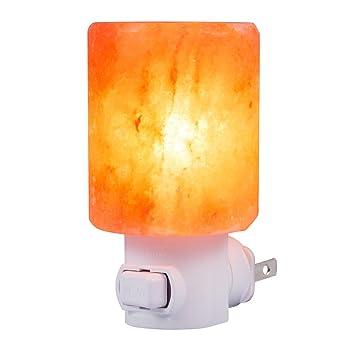 SMAGREHO Natural Himalayan Salt Lamp Night Light Crystal Salt Lamp Hand  Carved Wall Light Used For