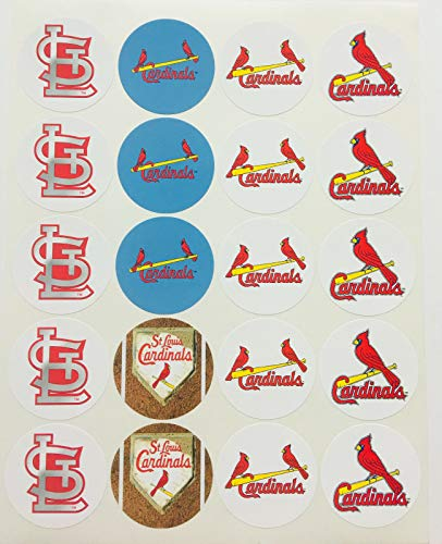 (Set of 20 St. Louis Cardinals Sticker Phone Small Mini Decal Logo Birthday Parties)