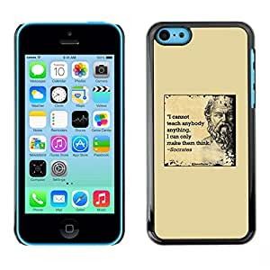 Plastic Shell Protective Case Cover    Apple iPhone 5C    Marble Quote Deep Smart @XPTECH