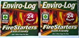 Cheap NEW Enviro-Log Environment Friendly Firestarters 2 PACK (48 firestarters) for Fireplace Wood Stove Fire Pit