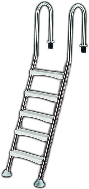 Escalera para piscina de 5 niveles, escalera para piscina, escalera para piscina, escalera de acero inoxidable: Amazon.es: Jardín