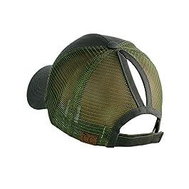 C.C Ponycap Messy High Bun Ponytail Adjustable Mesh Trucker Baseball Cap Hat