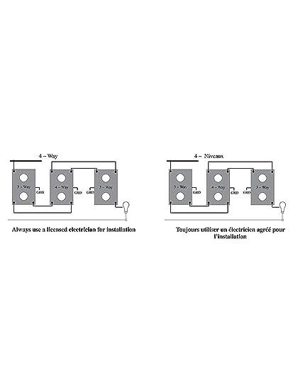 Amazon.com: 4-way Push Button interruptor de luz con nácar ...