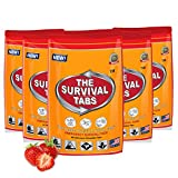 Food Supply Emergency Food Ration in 10 Days 120 tabs Survival MREs for Disaster Hurricane Food Gluten Free and Non-GMO 25 Years Shelf Life - Strawberry Flavor