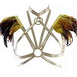 Feather Harness Bra Epaulette Shoulder Wings Women