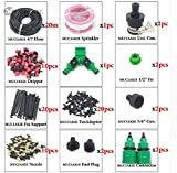 New 10M 15M 20M 25M 30M Garden Watering Irrigation System Watering Kit with PVC Hose Misting Sprinkler Dripper Tee Adaptor - 7
