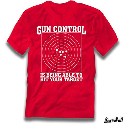 'Gun Control Is Being Able to Hit Your Target' Gun Rights Premium Tee - 2nd Amendment (Large, (Got Gun Control)