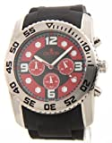 Croton CRCC311292BSRD Mens Maccabee Collection Large Rubber Chronograph Sport Watch