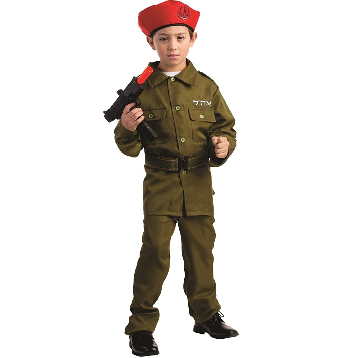 amazoncom israeli soldier costume for boys by dress america clothing - Boys Army Halloween Costumes