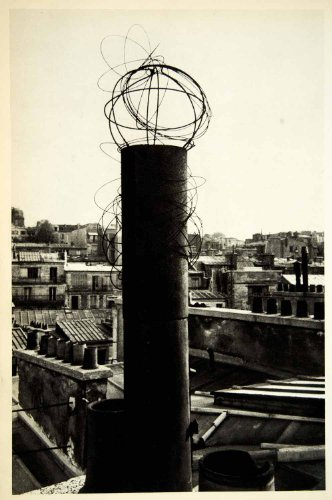 H Pot Chimney (1954 Rotogravure Chimney Pots Rooftops Heat Cooking Paris France Roth Sanford H. - Original)