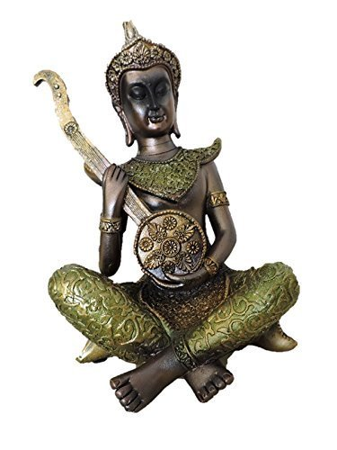 Creativegifts Thai Musicians Statue for Home Decor Gift - Mridangam + Free key chain (#227-2) by Creativegifts