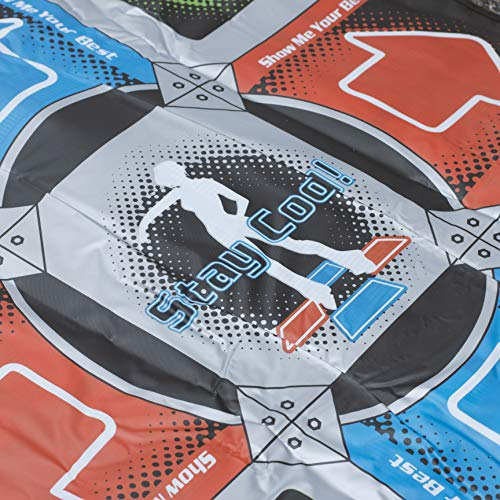 Blue Orb Gaming Retro Dance Mat Gold-Red