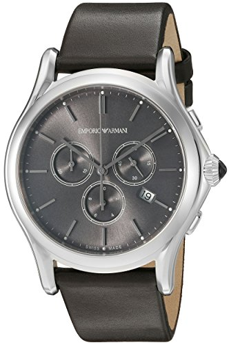 Emporio-Armani-Swiss-Made-Mens-ARS4000-Analog-Display-Swiss-Quartz-Brown-Watch